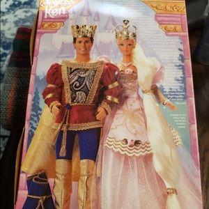 Barbie Rapunzel and Prince Ken dolls